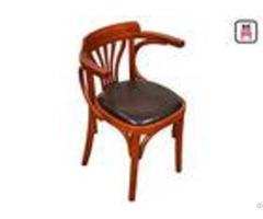 Vintage Wood Leather Dining Chairswith Arms Oak Wooden Wedding Chairs
