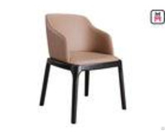 Grace Arm Padded Wood Restaurant Chairs Modern Furniture With Round Safe Corner