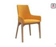 Modern Minimalist Wood Restaurant Chairs Nordic Fabric Seats W43 D41 H80cm