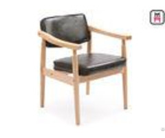 Comfortable Oak Solid Wood Restaurant Chairs Scandinavian Design Furniture