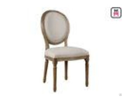 Wedding Fabric Lether Wood Restaurant Chairs Round Back Upholstered Dining Chair