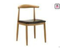 Cafe Wood Grain Metal Kitchen Chairs With Cushions Armless W47 D45 H78 Cm