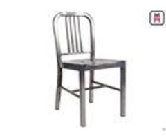 Aluminum Emeco Navy Stoolmetal Outdoor Dining Chairswith Glossy Curved Back