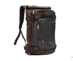 Vintage Canvas Tactical Backpack Multifunctional Shoulder Straps Travel Duffel Rucksack Hiking Bag