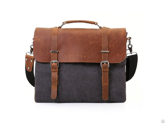 Men's Vintage Canvas Bag Messenger Work Hiking Satchel Laptop Shoulder SchoolBag
