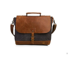 Vintage Canvas Messenger 15 6 Inch Laptop Briefcase College Bag Business Shoulder Strap Handbag