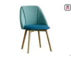 Nordic Upholstered Dining Room Chairs 6cm Plump Seater With High Density Sponge
