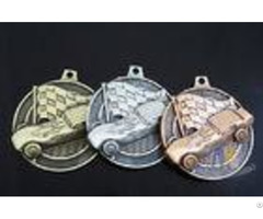 Antique Plating 3d Design Custom Zinc Alloy Metal Engraved Racing Bicycle Medals Without Soft Enamel