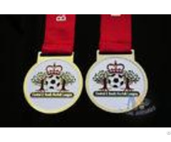 Football And Crown Logo Zinc Alloy Material Custom Award Medals Soft Enamel With One Color Printed R