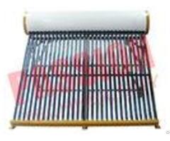 Non Pressurized Thermal Solar Water Heater Vacuum Tube Enamel White Color