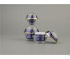 Empty Plastic Cosmetic Cream Jars Iso9001 Hot Stamping Oem With Screw Cap