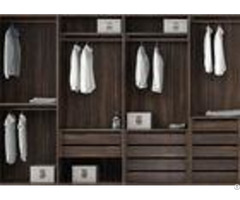 Pull Out Cloth Rack Walk In Closet Cabinets Melamine Finish 4 Door Wardrobe