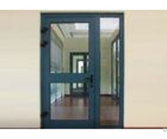 Heat Insulation Commercial Aluminium Doors Casement Door Construction Easy Install Clean