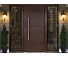 Simple Modern Solid Oak External Front Doors Decorative Panel Design For Home