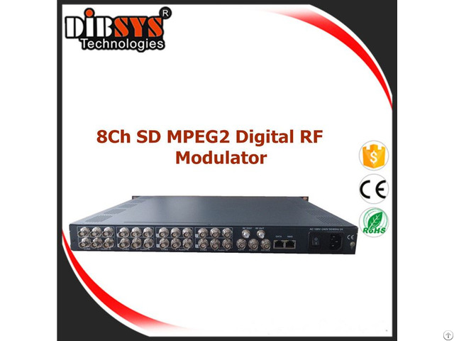Broadcast 8 Mpeg2 Digital Video Modulator