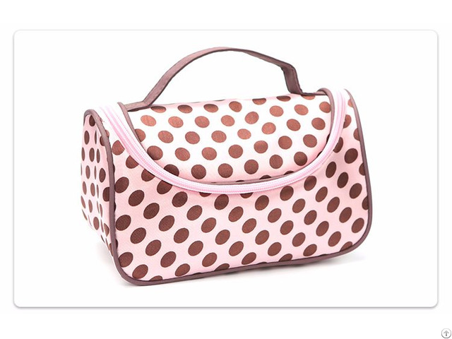 Pink Polka Dot Cosmetic Bag