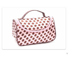 Pink Polka Dot Cosmetic Bag