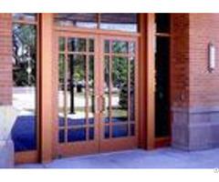 Tempered Insulated Powder Coated Aluminium Door Hinge Adjustment With Glass