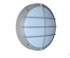 Grey Housing Outside Bulkhead Wall Light With Grill 270 M Diameter For Steam Room