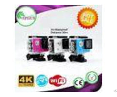 H9 Waterproof 4k Sports Action Camera With 12mp Wifi Control Via Ios Android