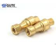 "Bidirectional Flow Brass Quick Coupler 3 4"" Kzd 06 With Locking Ball System"
