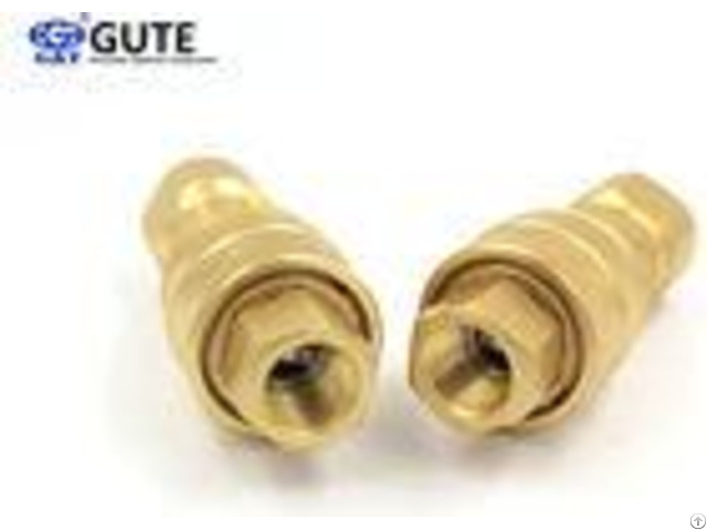 Rated Flow 190 L Min Brass Quick Release Coupling 1 Inch Kzd 08 Female Connection