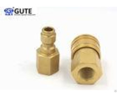 Brass Socket And Plug Quick Connect Coupling Without Valve Gt K1 02 1 4 Inch