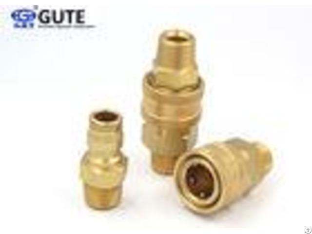 Male Thread Brass Quick Connect Air Fittings Gt K2 03 Machined From Solid Barstock