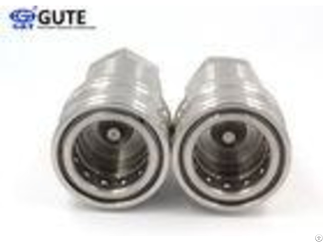 Forestry Equipment Stainless Steel Quick Disconnect Fittings With Ball Locking Mechanism