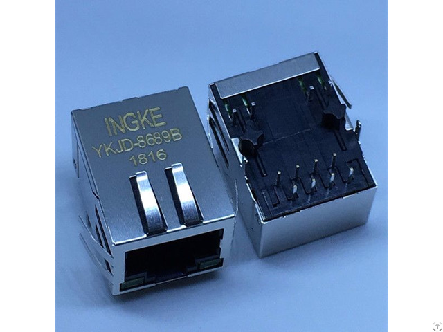 Ingke Ykjd 8689b 100% Cross 7499011222a Through Hole Rj45 Magnetic Jacks