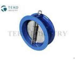 Epdm Seat Ss Butterfly Check Valve Wafer Renewable Split Disc For Water Application