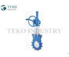 Bevel Gear Operation Soft Seat Valve Uni Directional Seal Stainless Steel For Sewage