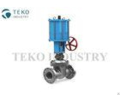 Pneumatic Actuated Wedge Gate Valve Stainless Steel With Double Action Cyliner
