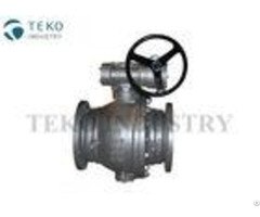 Worm Gear Operation High Pressure Ball Valve Trunnion Mounted Preventing Leakage