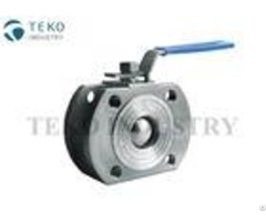 Wafer Short Pattern Ss Ball Valve Flange Type Wcb Material With Space Saving Structure