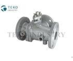 Bitumen Asphalt Flanged Ball Valve 3 Way Steam Jacketed For High Viscosity Fluid