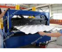 Pre Painted Steel Step Tile Roll Forming Machine With High Grade Shaft