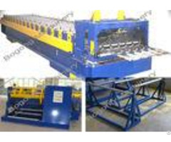 Plc Control Roof Tile Roll Forming Machine With Large Load Capacity