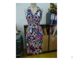 Diamond Printing Womens Casual Summer Dresses Halter Neck Open Back Maxi Dress
