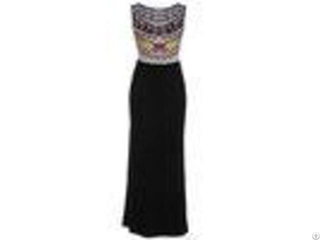 Bohemia Printing Round Neck Sleeveless Dress Floor Length Summer Maxi Dresses