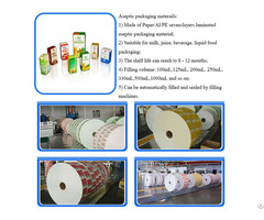 Aseptic Packaging Paper Carton Box