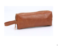 Brown Pvc Men S Toiletry Kit