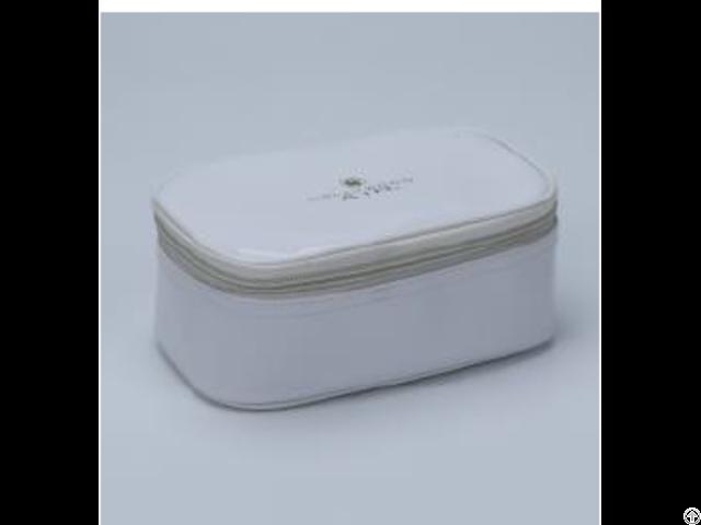 White Enamel Pu Cosmetic Bag