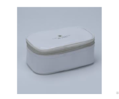 White Enamel Pu Cosmetic Bag