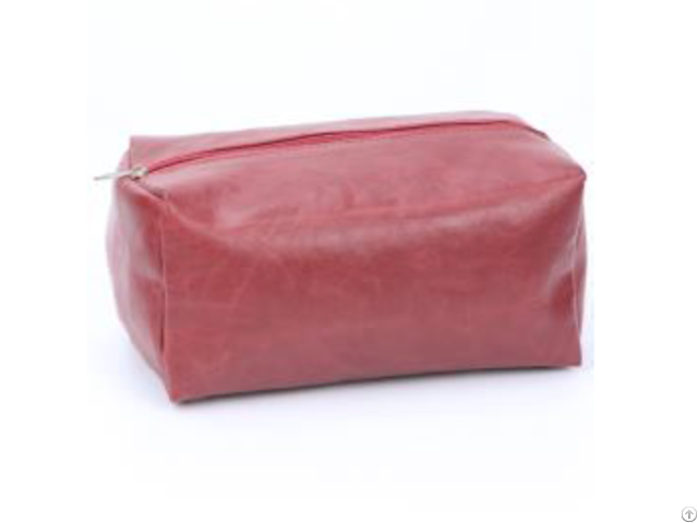 Red Crack Pvc Cosmetic Bag