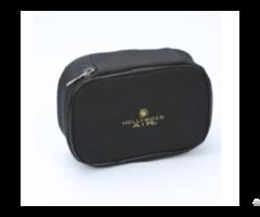 Black Oblong Shape Cosmetic Bag