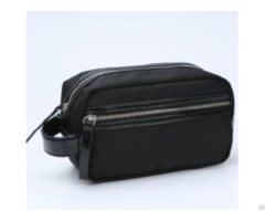 Black 1680d Enamel Pu Handle Cosmetic Bag