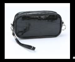 Alligator Skin Small Cosmetic Bag