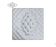 Plant Fiber Material 3d Faux Leather Decorative Wall Covering Panels
