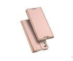 Shockproof Pu Leather Sony Phone Covers Xa1 Rose Gold Magnets Card Slot Kickstand